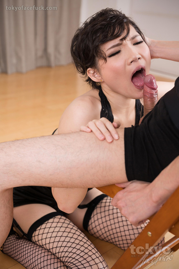 Misaki Akari, Deep throat facefucking @ BlowjobJapan.com