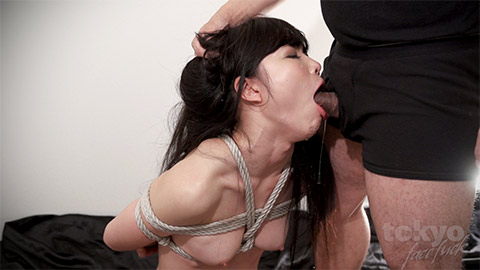 JAV Idol Megumi Shino is roped and facefucked